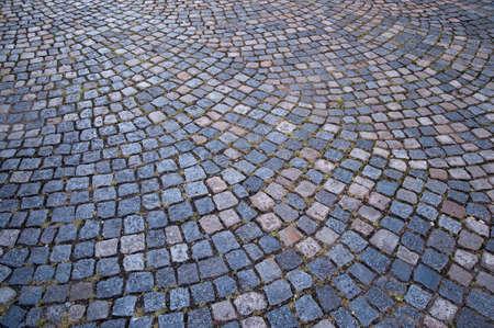 old cobblestone street photo