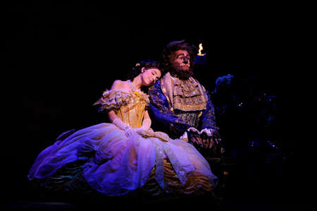 BUENOS AIRES, ARGENTINA - MARCH 26: Opening of Disney Musical The Beauty and the Beast in Opera Theater. March 26, 2010 in Buenos Aires, Argentina