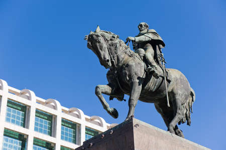 Statue of General Artigas in Plaza Independencia, Montevideo, Uruguay
