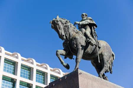 montevideo: Statue of General Artigas in Plaza Independencia, Montevideo, Uruguay