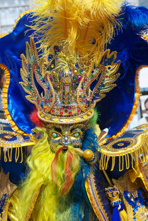 A Moreno Dancer in Oruro Carnival, Bolivia, declared UNESCO Cultural World Heritage.
