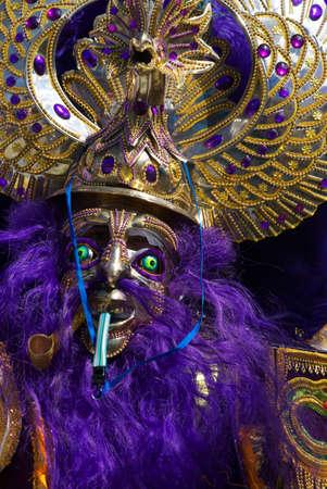 declared: A Moreno Dancer in Oruro Carnival, Bolivia, declared UNESCO Cultural World Heritage.