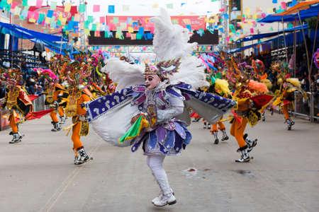 ORURO, BOLIVIA - MARCH 5: Dancers at Oruro Carnival in Bolivia, declared UNESCO Cultural World Heritage. March 5, 2011 in Oruro, Bolivia