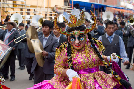 ORURO, BOLIVIA - MARCH 5: Dancers at Oruro Carnival in Bolivia, declared UNESCO Cultural World Heritage. March 5, 2011 in Oruro, Bolivia