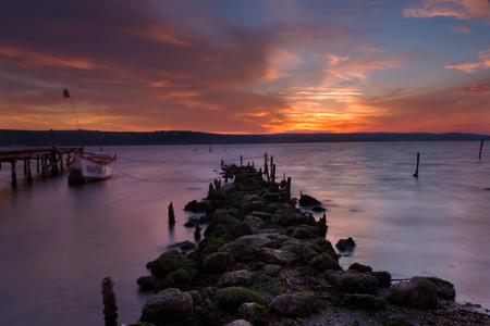 lake sunset: Beauty lake sunset