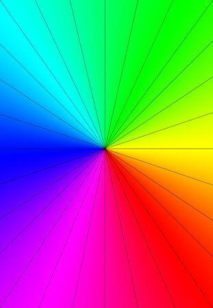 spectral colour: Rainbow Sunburst Background.Colorful smooth banner template.