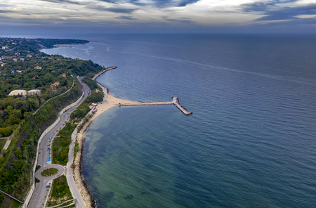 A beautiful aerial view to Varna coast from The Sea Garden.
