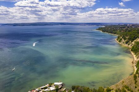 A beautiful aerial view to the coastline and the bay. Varna, Bulgaria
