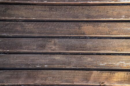 Old brown wood background. Horizontal view Фото со стока