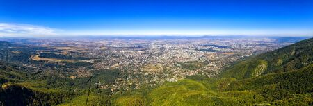 Stunning aerial view from the mountain over the city Sofia, capital of Bulgaria. HIGH Resolution