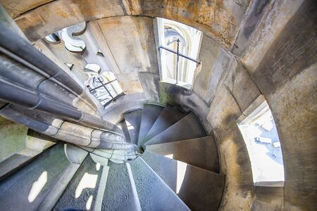 Stairs inside the tower of the Cathedral of Ulm, Germany