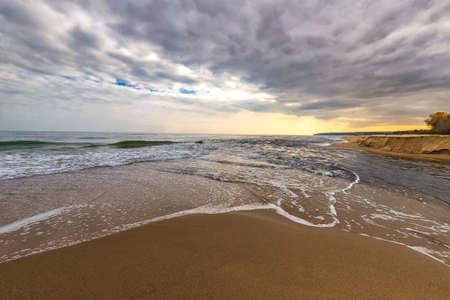Amazing vast seascape from the seashore.