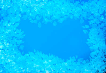 Beauty blue background with copy space. Top view