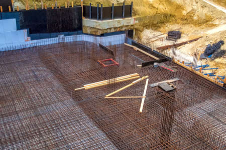 Formwork for the realization of a Foundation of a new building on a construction site
