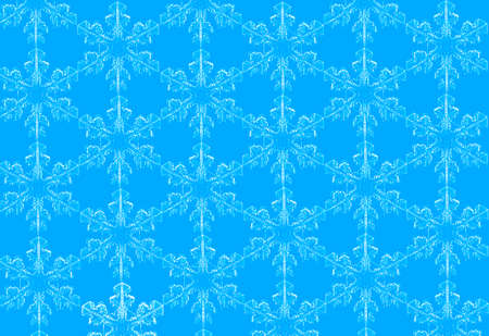 Beauty Christmas blue background with snowflakes 版權商用圖片