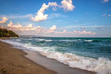 Beautiful scenic view to the shore of the black sea 版權商用圖片