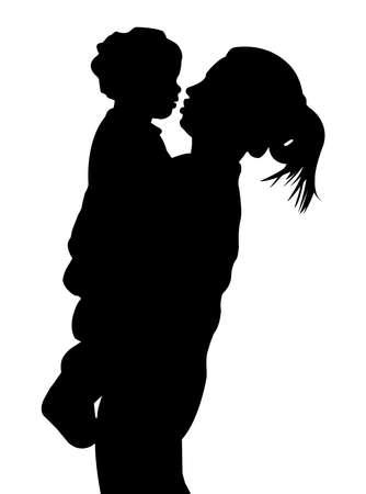 curare teneramente: Madre e del bambino