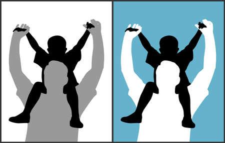 curare teneramente: Padre e figlio  Vettoriali