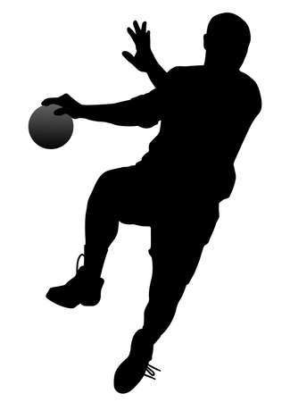 balonmano: Balonmano jugador  Vectores