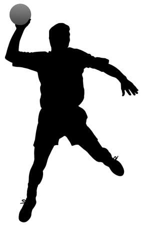 throwing ball: Handball player