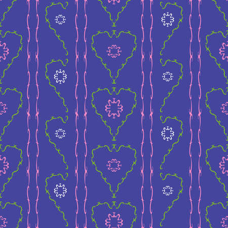 Flowers hearts seamless pattern Stock Vector - 3891524