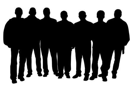 large group of people: Grupo de personas Vectores