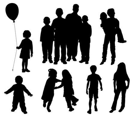 game boy: Enfants silhouettes