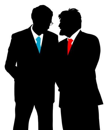 dos personas hablando: Dos hombres de negocios hablando