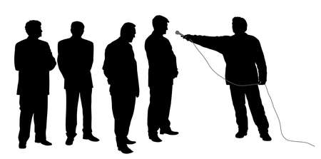 Interview with business group or political group leaders Illustration