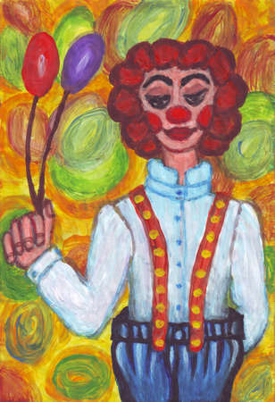 Clown with big pants