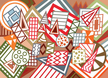 trapezium: Abstract geometric shapes background