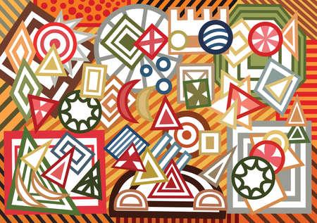 forme: Résumé des formes géométriques fond