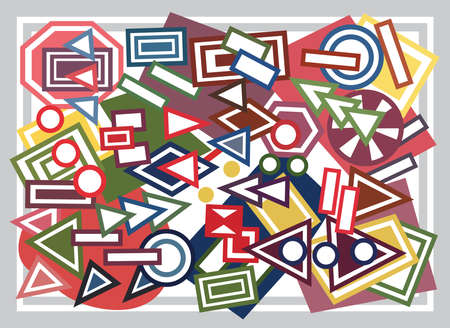 geometric shapes: Abstract geometric shapes background