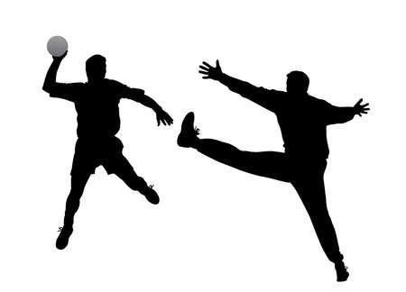 arquero de futbol: jugador de balonmano y el portero