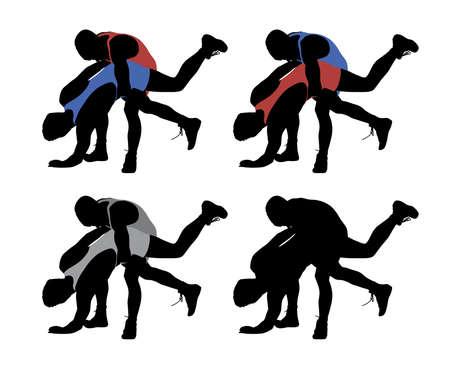 Wrestling Illustration