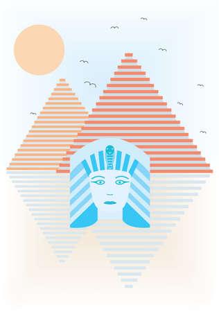 egyptian cobra: Abstract ancient Egypt Illustration
