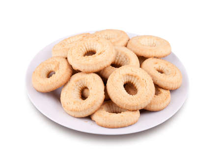 Tea cookies on a plate