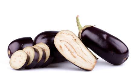 Eggplants or aubergines Stock Photo