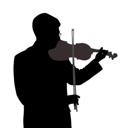 virtuoso: Male violinist