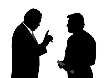 Boss opdracht geeft of zijn medewerker waarschuwen