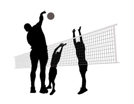 high speed train: Men playing volleyball