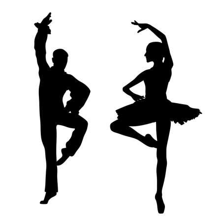Couple de danseurs de ballet Vecteurs
