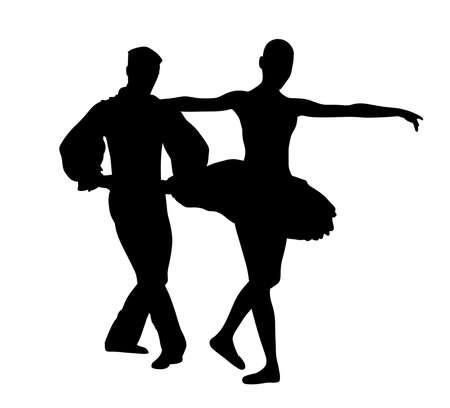 Couple ballet dancers Stock Vector - 87527307