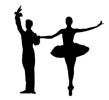 Couple ballet dancers.
