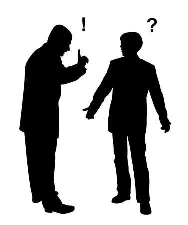 Illustration of two man arguing. Illustration
