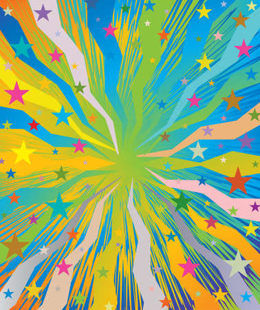 Celebratory colorful burst pattern. Illustration