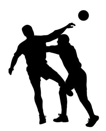 Handball player blocking opponent player Çizim