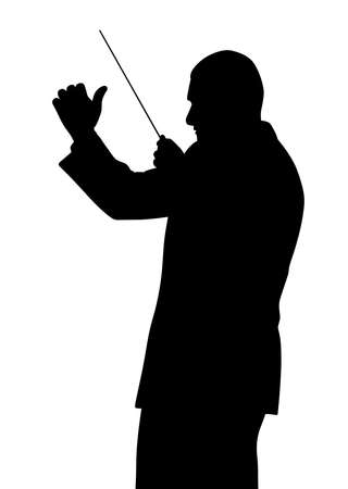 Music conductor illustration. Foto de archivo - 93920053