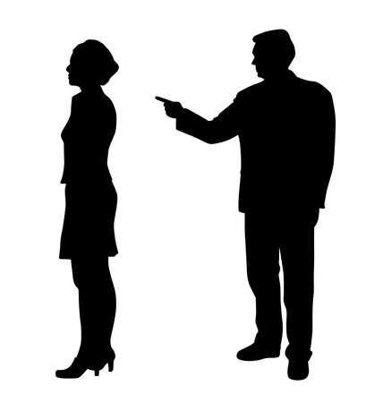 Man emotionally abusing woman