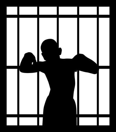 Man in jail behind bars
